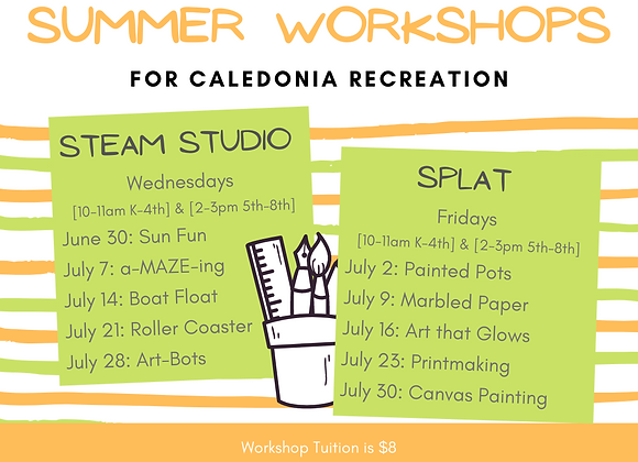 7/21 Roller Coaster STEAM Studio with Caledonia Rec