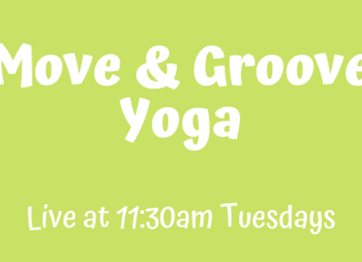 Move & Groove Yoga [Tue 11:30am Live] JUNE