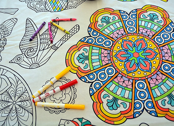 Reusable Coloring Table Cloth