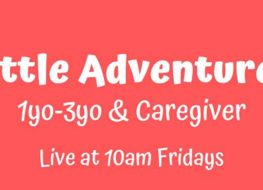 Little Adventures 1yo-3yo [Fri 10am Live] JUNE