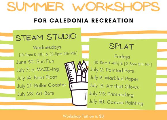 6/30 Sun Fun STEAM Studio with Caledonia Rec