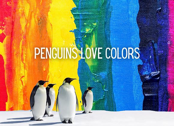 2/28 Penguins Love Colors