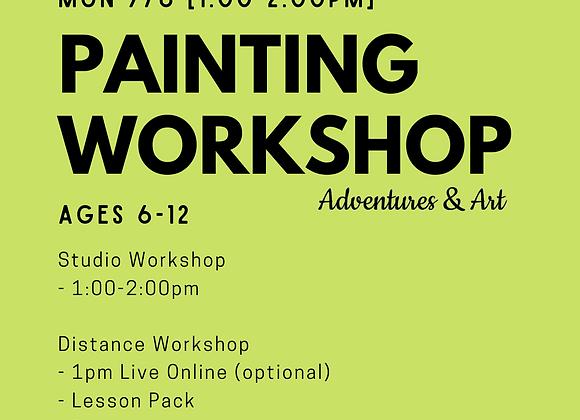 Canvas Painting Workshop for 6yo-12yo