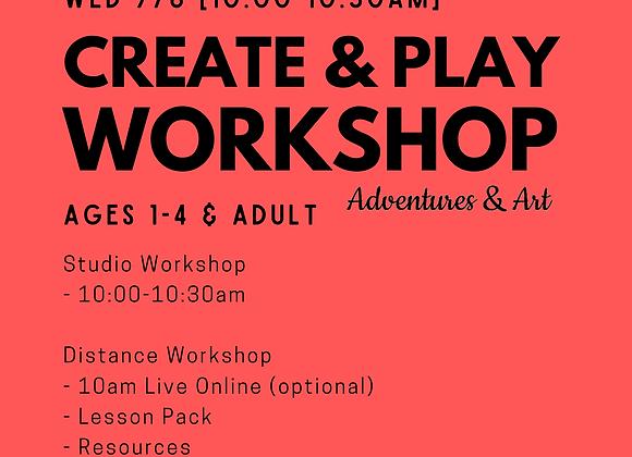 Create & Play Workshop for 1yo-4yo