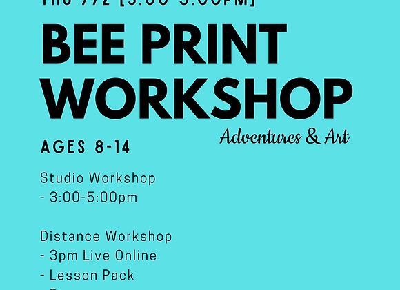 Bee Print Workshop for 8yo-14yo