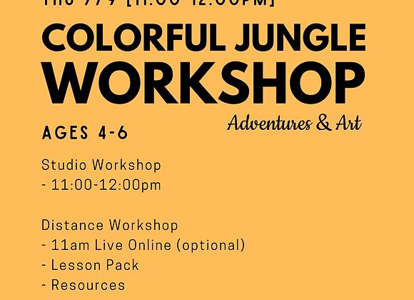 Colorful Jungle Workshop for 4yo-6yo