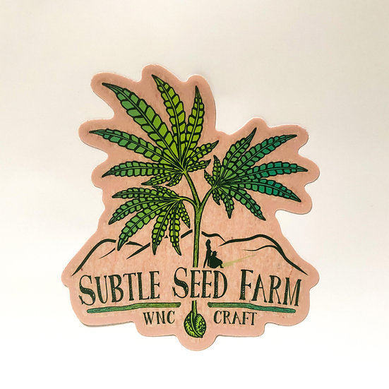 Subtle Seed Farm Sticker
