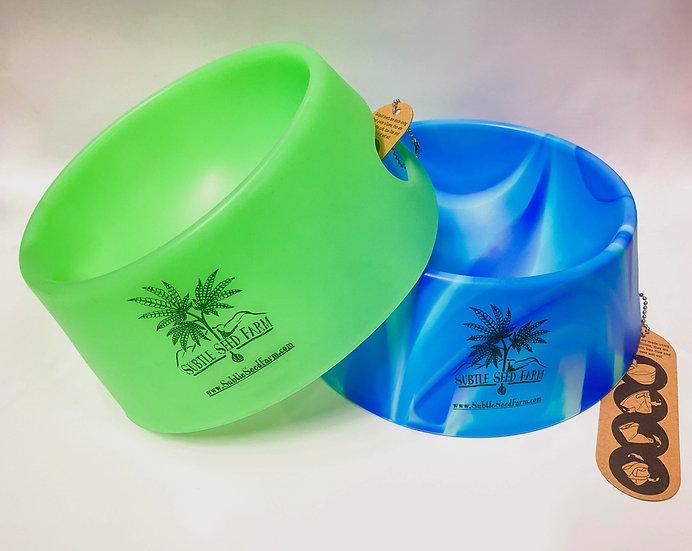 Subtle Seed Farm Silicon Dog Bowls