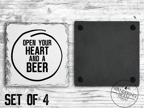 Open Your Heart and A Beer Coaster