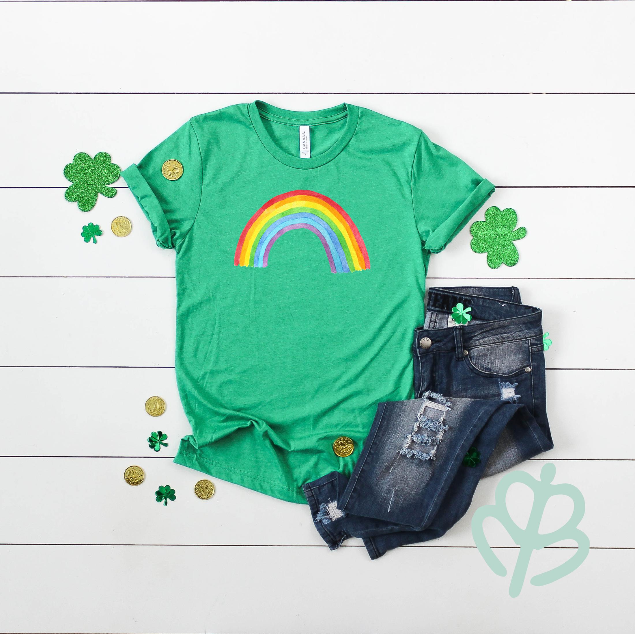 Irish-rainbow--green-shirt