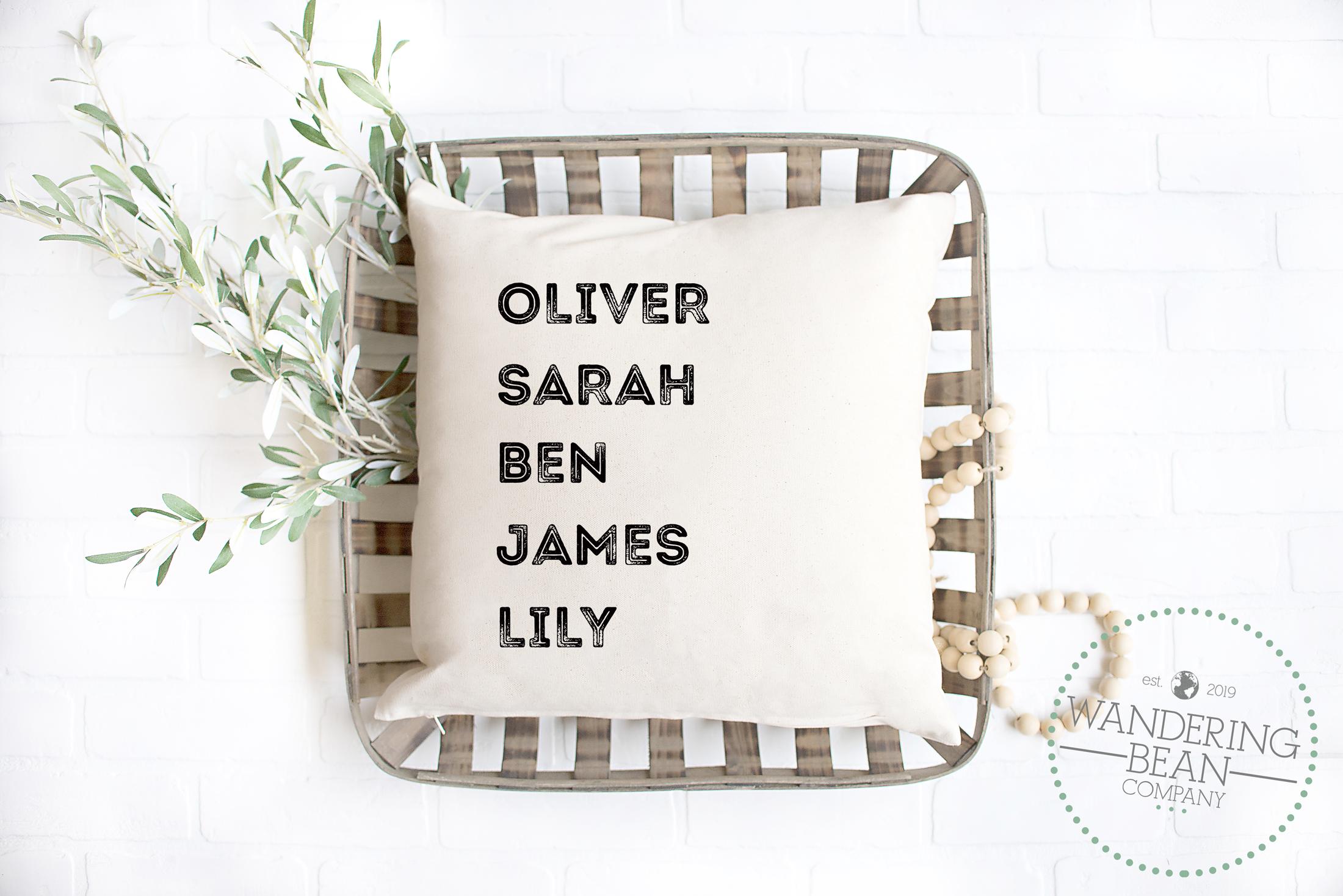 family-name-pillow