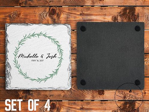 Personalized Coasters- Wedding Gift