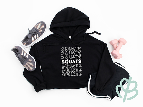 Squats- Cropped Hoodie