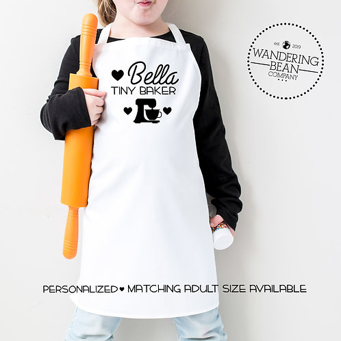 Tiny Baker- Kids Apron- Matching Adult Apron Available
