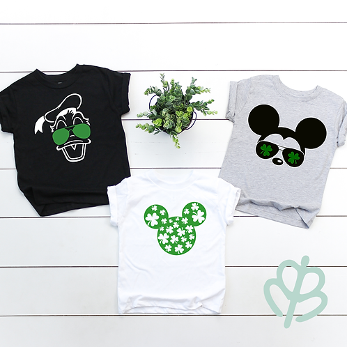 Disney Characters- St. Patrick's Day Shirts