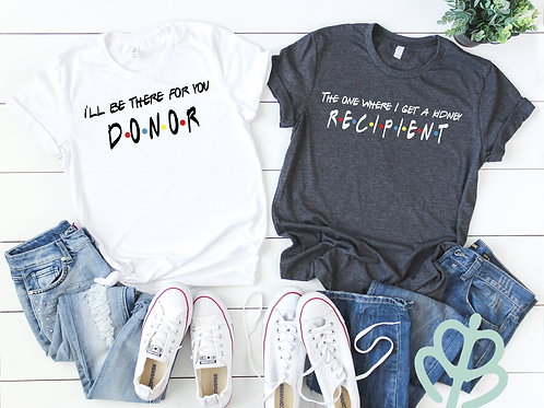 Transplant Donor and Recipient Shirts