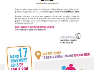 Mois de l'ESS : Le Music-hall au Mans !