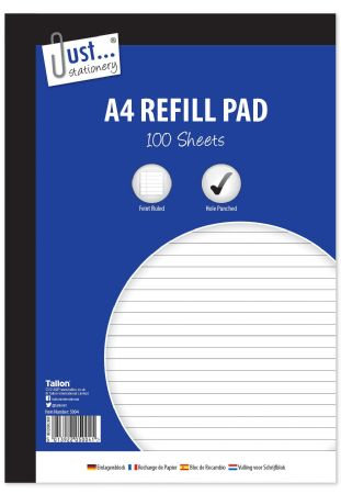 Just Stationery A4 100 Sheet Refill Pad