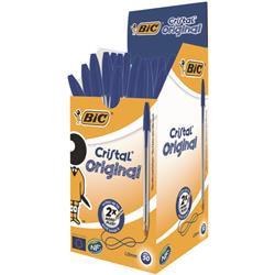 Bic Cristal Ballpoint Pen Medium Blue (50 Pack)