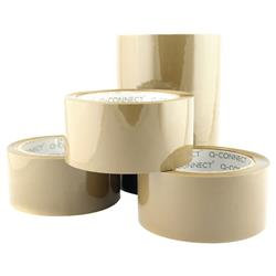 Q-Connect Low Noise Polypropylene Packaging Tape 50mm x 66m Brown (Pack of 6)