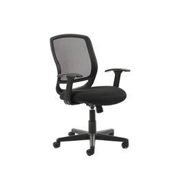 Mave Task Operator Chair with Arms Black Mesh