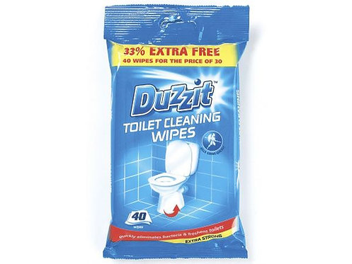Duzzit 40pk Toilet Cleaning Wipes, by 151 Products