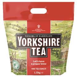 Yorkshire Tea Soft Water Tea Bags 480PK