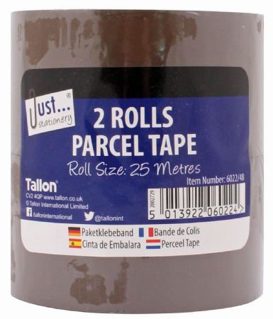 Just Stationery 2 Roll Parcel Tape