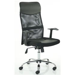 Vegalite Executive Mesh Chair Black With Arms