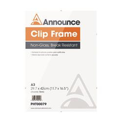 Announce Metal Clip Frame A3