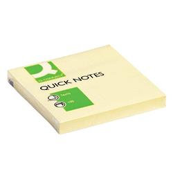 Q-Connect Quick Notes 76 x 76mm Yellow (Pack of 12)