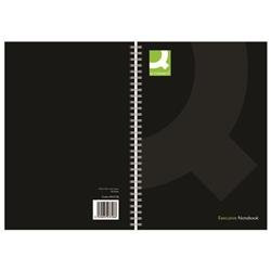 Q-Connect Hardback Wirebound Book A5 Black 160 Pages (Pack of 3)