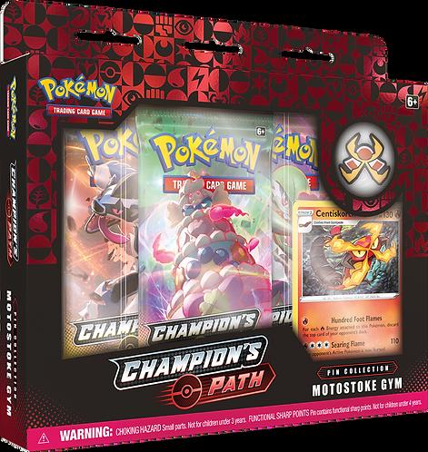 Pokemon Sword and Shield Champion's Path Pin Box Motostoke Gym