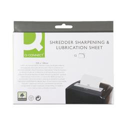 Q-Connect Shredder Sharpening and Lubrication Sheet