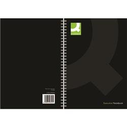 Q-Connect Hardback Wirebound Book A4 Black 160 Pages (Pack of 3)