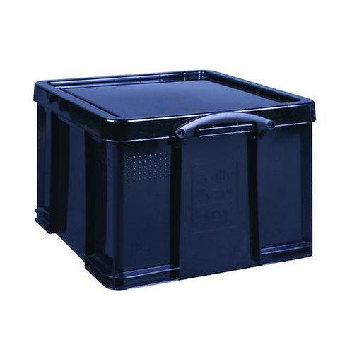 Really Useful Box Plastic Storage 42 Litre Black