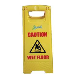 Caution Folding Safety Sign Yellow