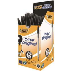 Bic Cristal Ballpoint Pen Medium Black (50 Pack)