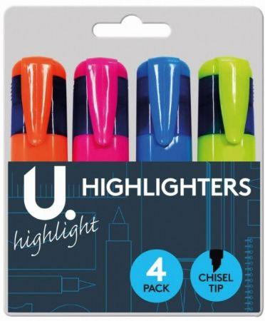 U. 4pk Highlighters