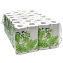 Maxima Green 2-Ply White Toilet Roll 200 Sheet (48 Pack)