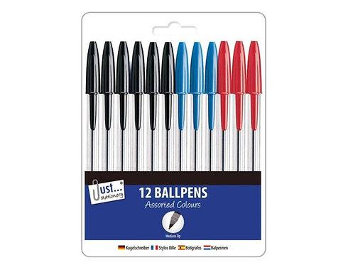 Just Stationery 12pk Ballpoint Pens