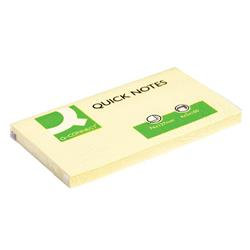Q-Connect Quick Notes 76 x 127mm Yellow (Pack of 12)