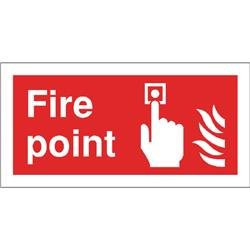 Safety Sign Fire Point 100x200mm Self-Adhesive