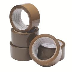 Buff Packaging Tape 50mm x 66m (6 Pack)