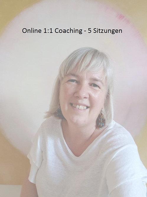 Paket à 5 x Online 1:1 Coaching (je 1 Stunde)