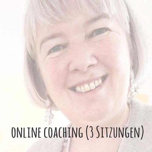 Paket à 3 x Online 1:1 Coaching (je 1 Stunde)
