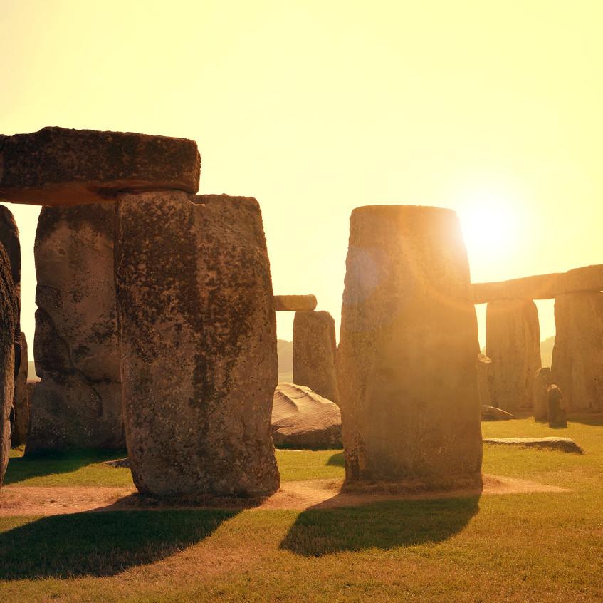 Stonehenge in the sun