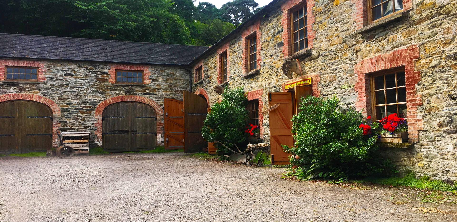 Boatyard courtyard Bantry House