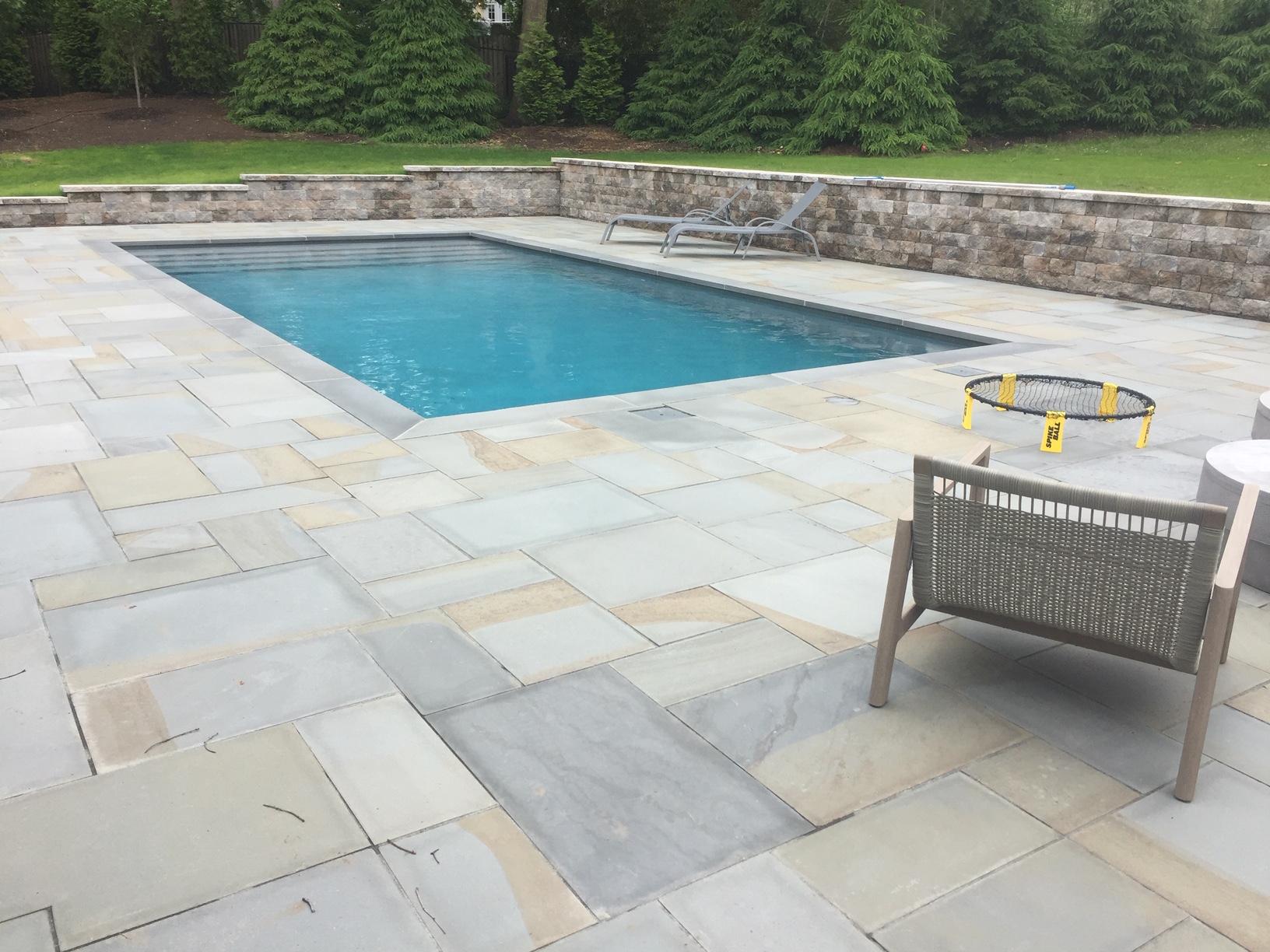 patio around pool