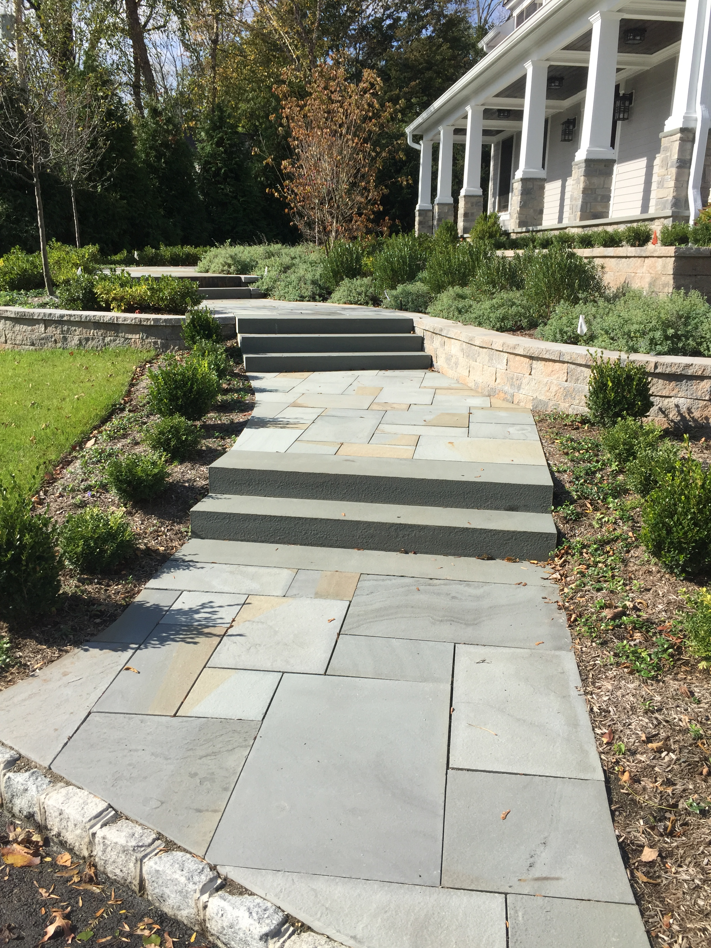Blue Stone Walkway and steps